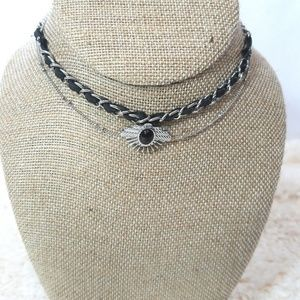 Free Press Womens Choker Necklace NWT Faux Leather